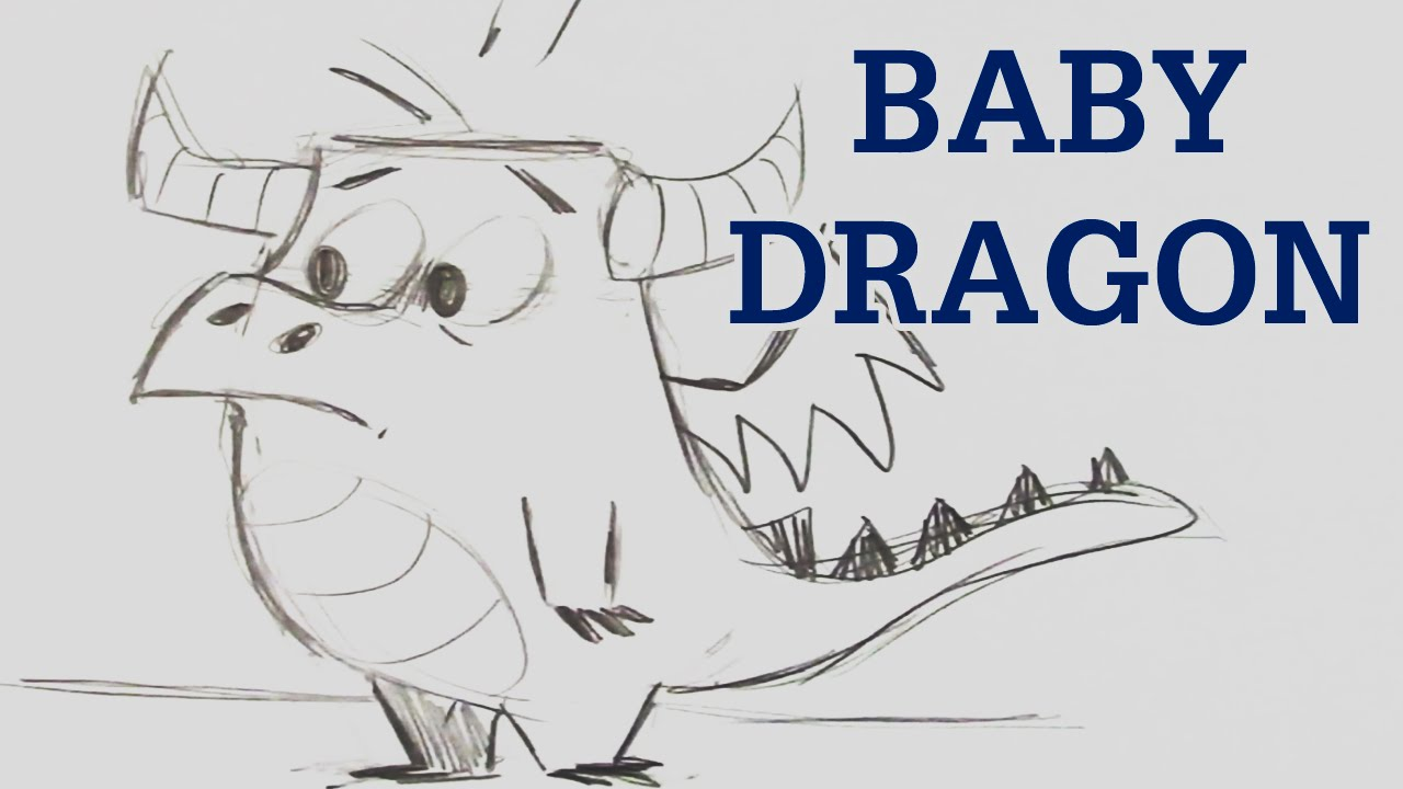 1280x720 Surging Drawings Of Baby Dragons How To Draw A Dragon Step By