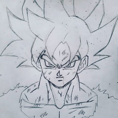 480x480 Goku Drawing Sketch Goku Goku Drawing, Goku