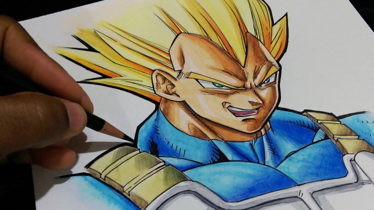 1280x720 Colored Pencil Dragon Ball Drawings Drawing Of Gogeta