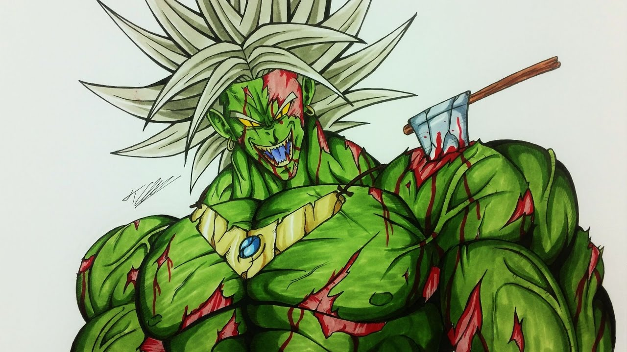 Dragonballz drawing at getdrawings free for personal use 1280x720 drawing broly as a zombie halloween dragonball z tolgart publicscrutiny Gallery