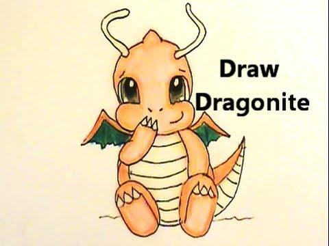 480x360 Draw Chibi Dragonite Step By Step Pokemon No.149 Tutorial