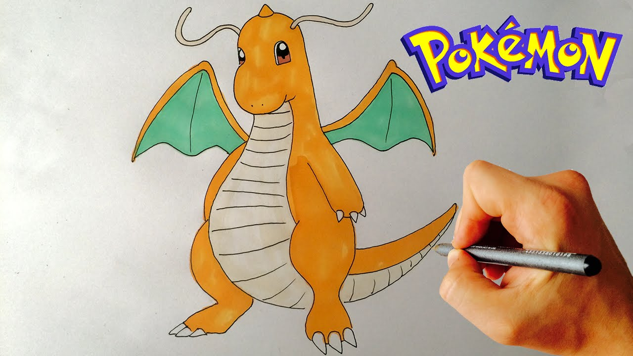 1280x720 How To Draw Dragonite (Pokemon) Step By Step Drawing Lesson