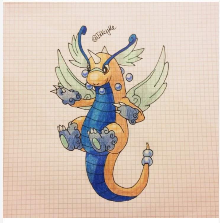 744x752 Mega Dragonite Drawing Amino