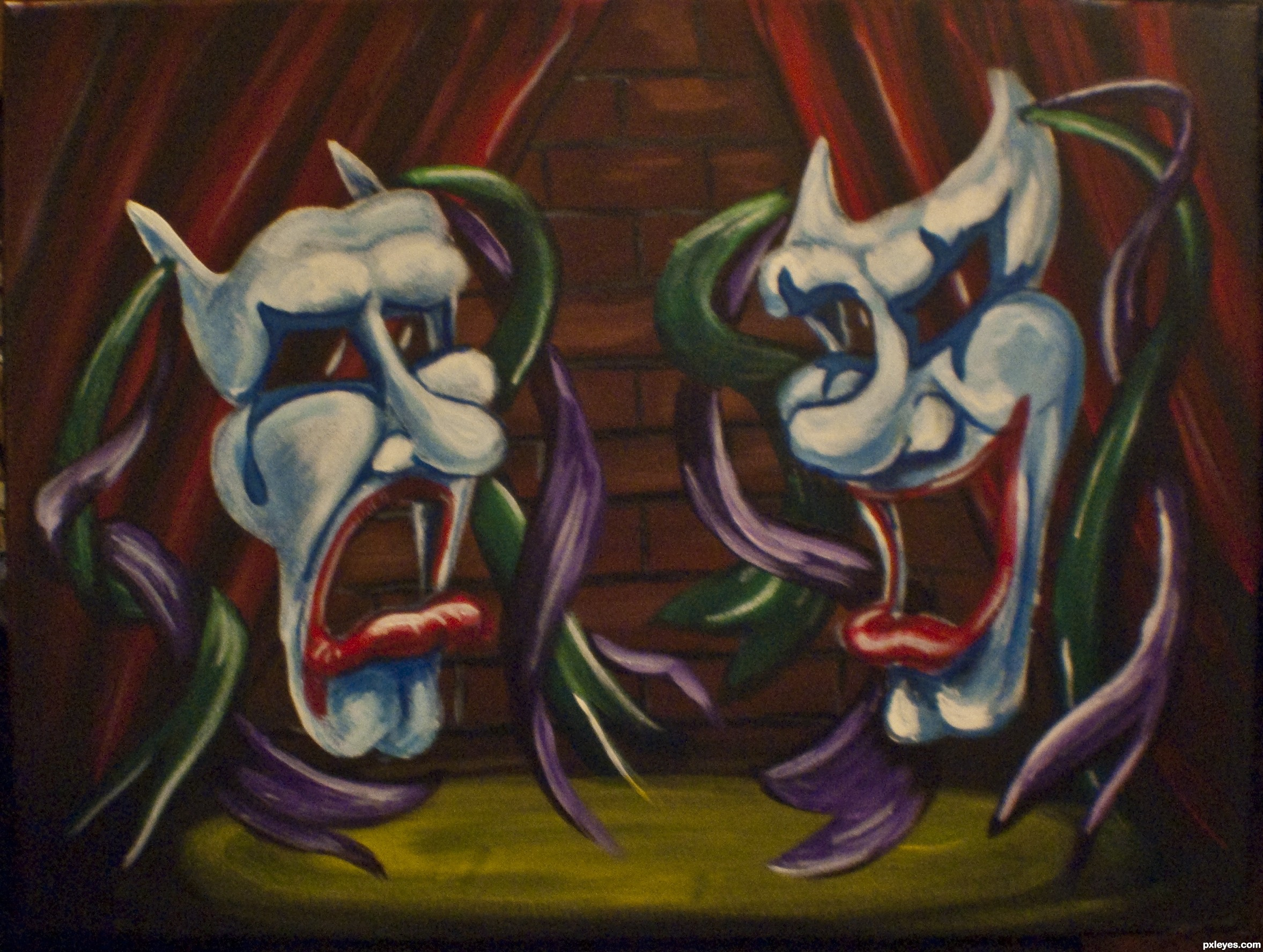 2355x1776 Drama Clowns Picture, By Gotmeamuse For Drama Mask Td Drawing
