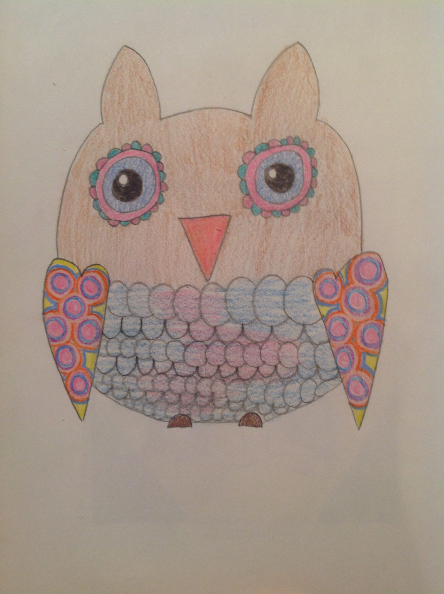 1530x2048 My 8 Year Old's Drawing Of An Owl. My Girls
