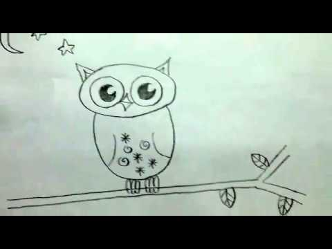 480x360 8 Year Old Girl Teaches How To Draw An Owl For Kids