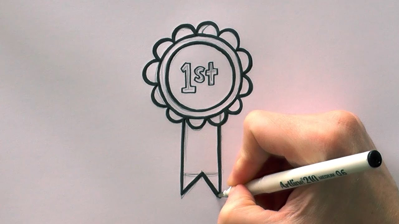 1280x720 How To Draw A Cartoon First Prize Rosette