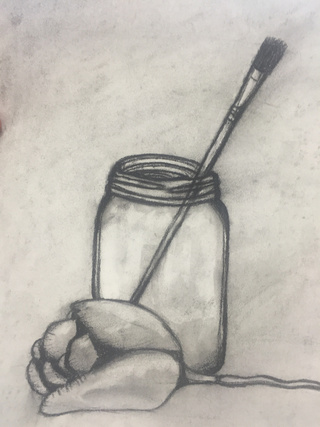 320x427 Charcoal Drawing For Art Class