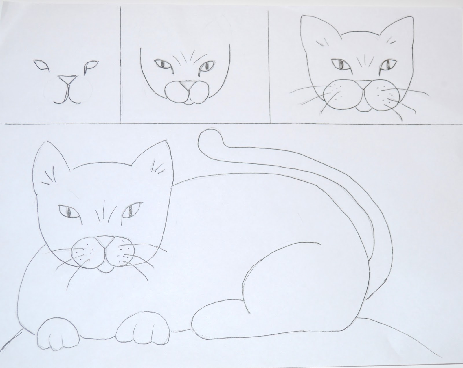 1600x1274 Drawing A Cat Art Class Ideas