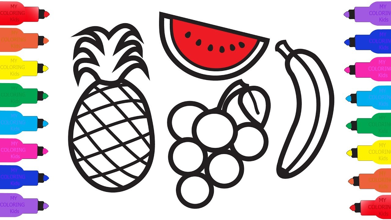 1280x720 How To Draw Fruit For Baby