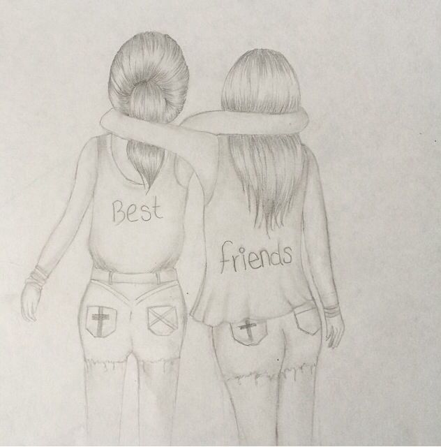 632x640 gallery best friend drawings pencil