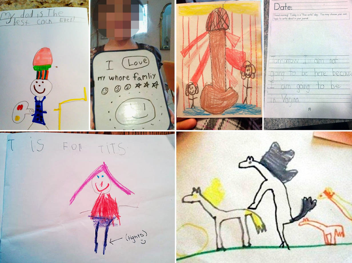 1232x920 20 Rude, Funny And Totally Inappropriate Kids Drawings That Didn'T
