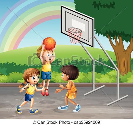 450x424 Three Children Clipart And Stock Illustrations. 96 New Images