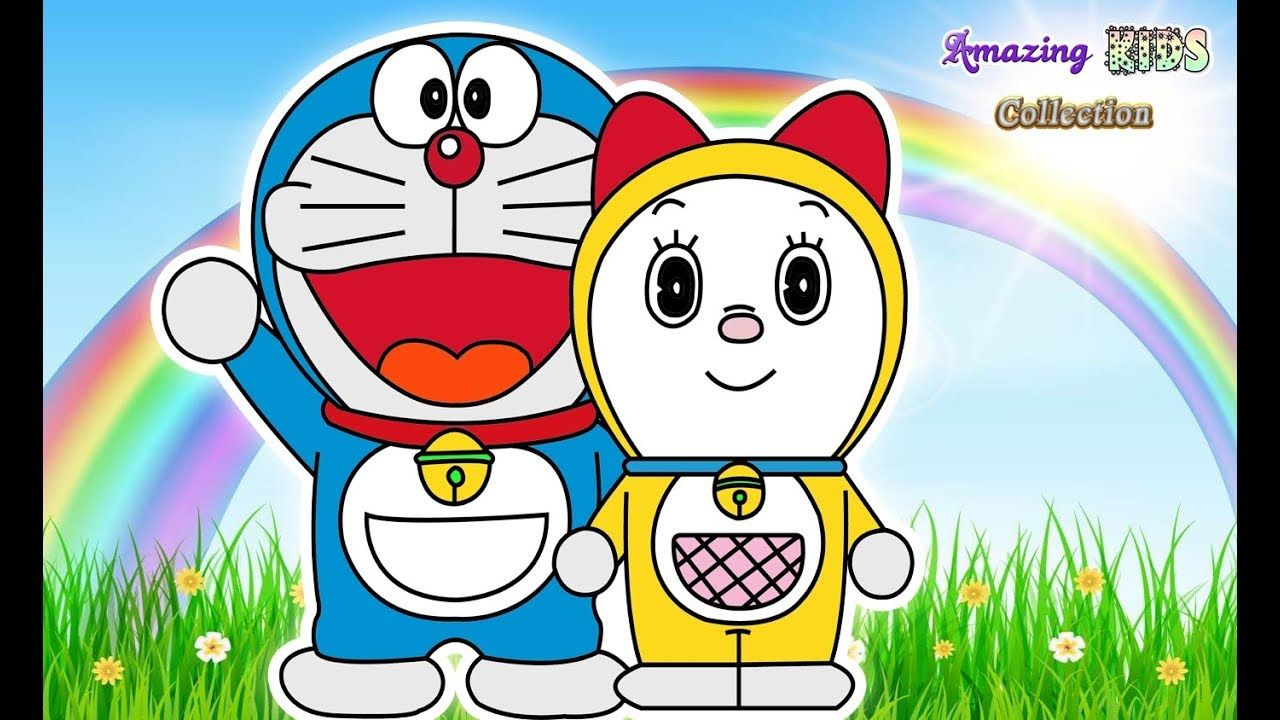 1280x720 Best Doraemon And Dorami Coloring Pages Kids Learn Drawing
