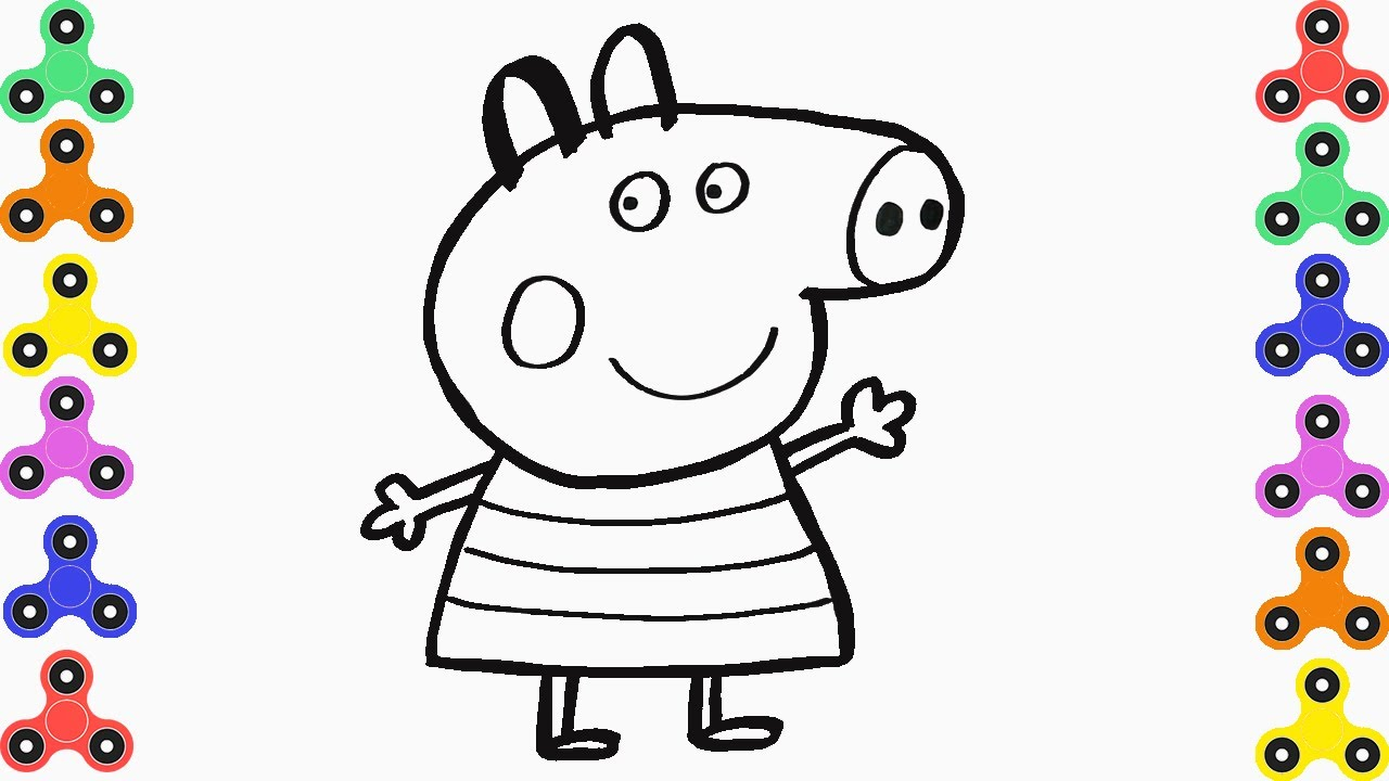 1280x720 How To Draw Peppa Pig Coloring Pages For Kids Creativity