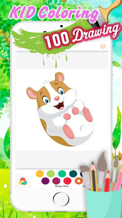 422x750 Cute Hamster Coloring Book Drawing For Kid By Chawalit Sittichai