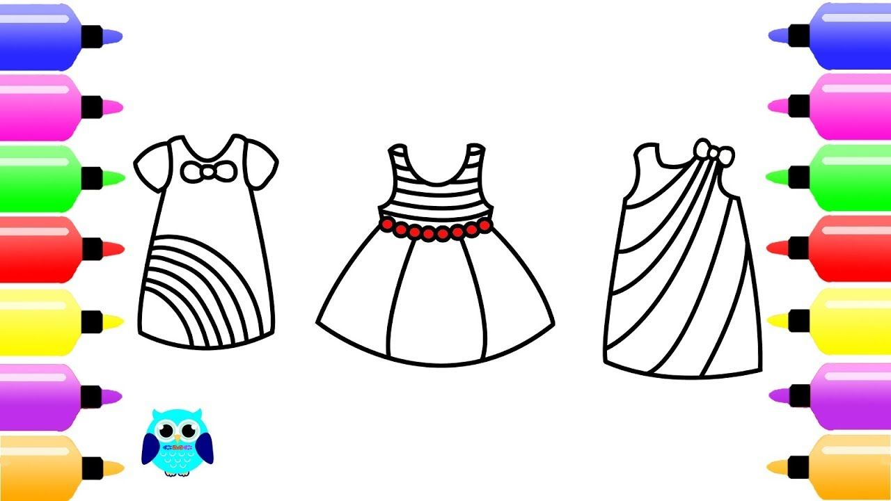 1280x720 How To Draw Rainbow Dresses For Kids