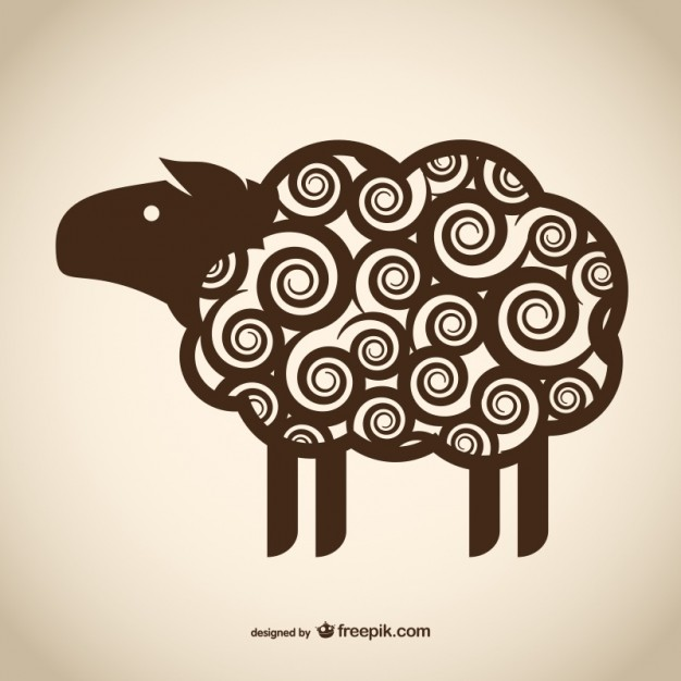 626x626 Decorative Sheep Drawing Vector Free Download