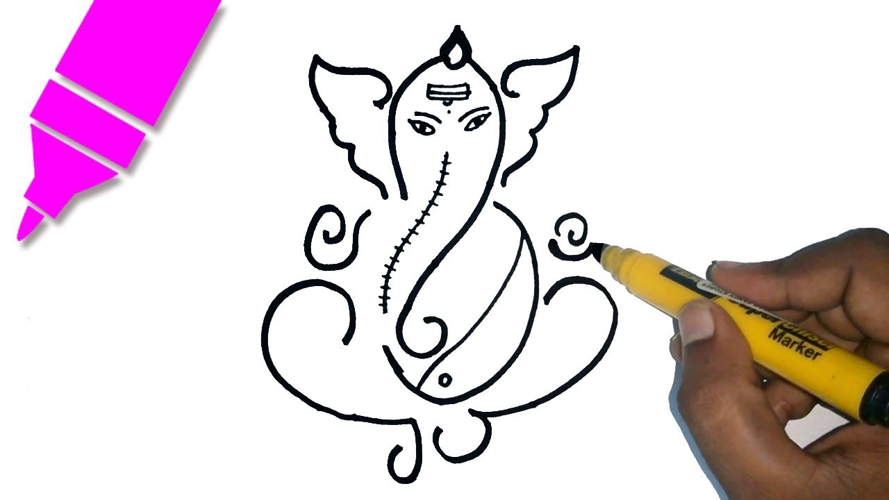 1280x720 Learn How To Draw Ganesha Drawing