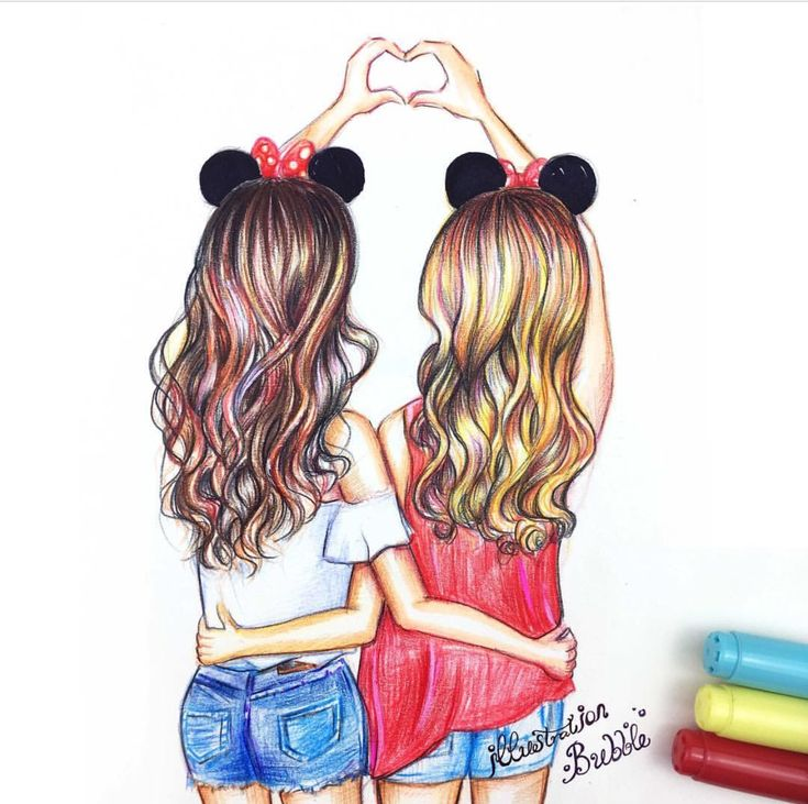 735x731 Photos Best Friend Drawings Ideas,