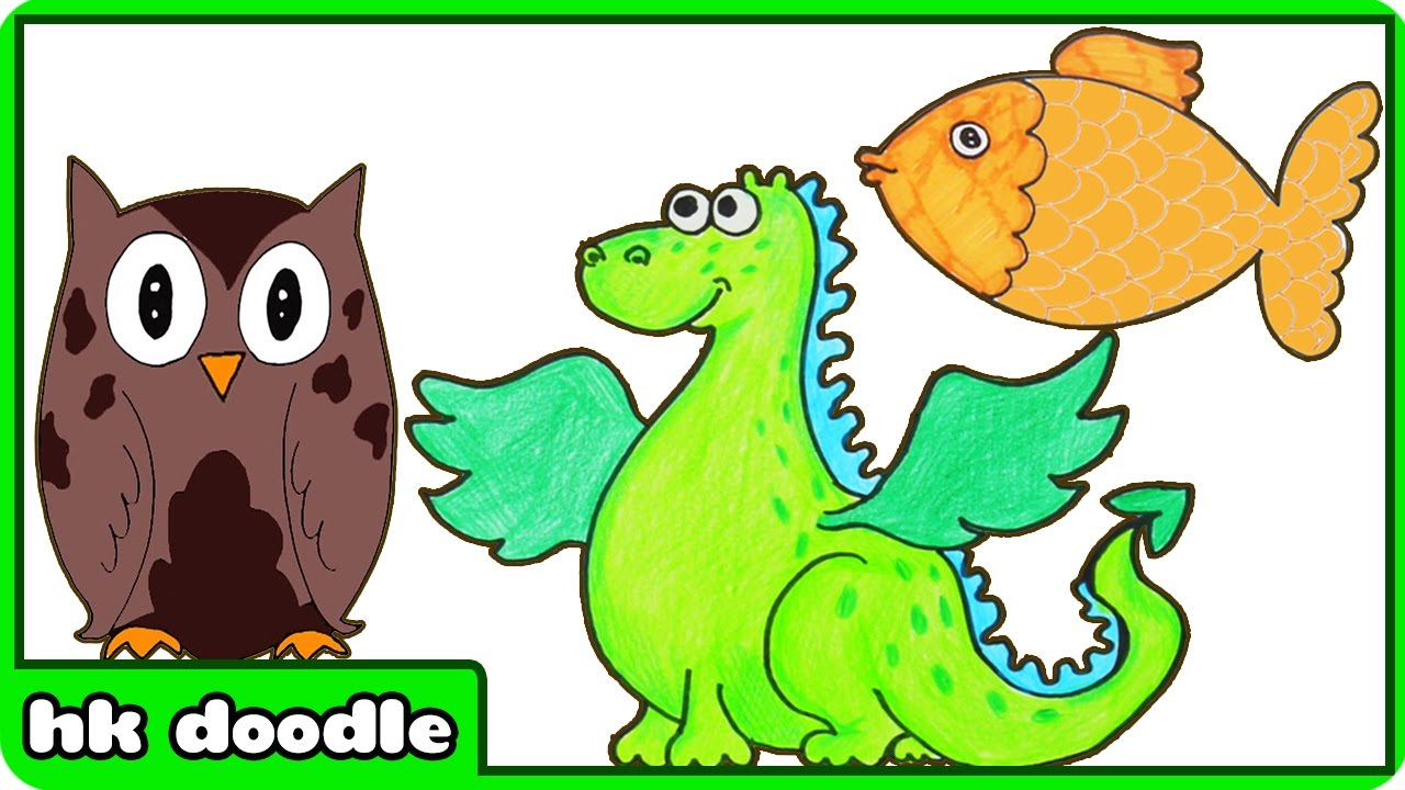 Drawing For Kids Animals at GetDrawings.com | Free for personal use ...