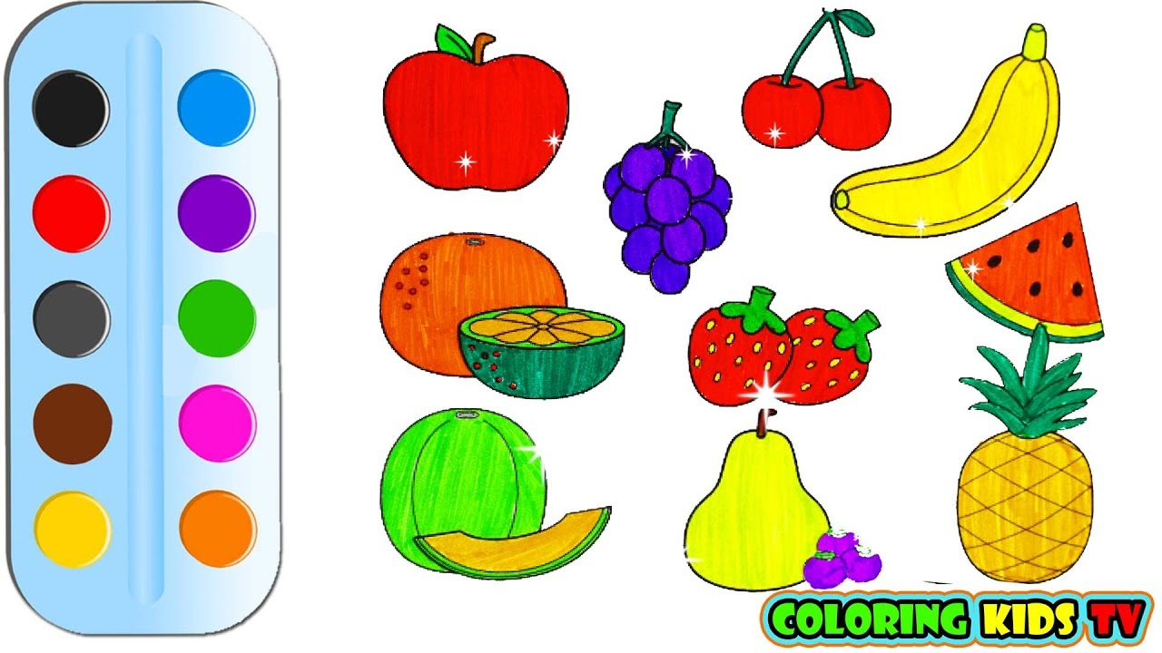Drawing For Kids Fruits at GetDrawings.com | Free for personal use ...