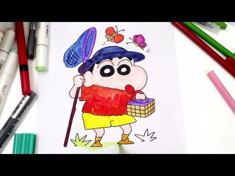 480x360 Coloring Pages Shin Chan For Babies Amp Drawing For Children How