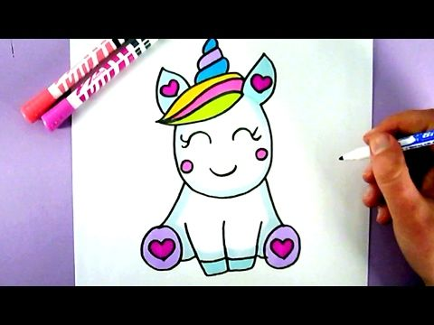 480x360 How To Draw A Super Cute And Easy Unicorn