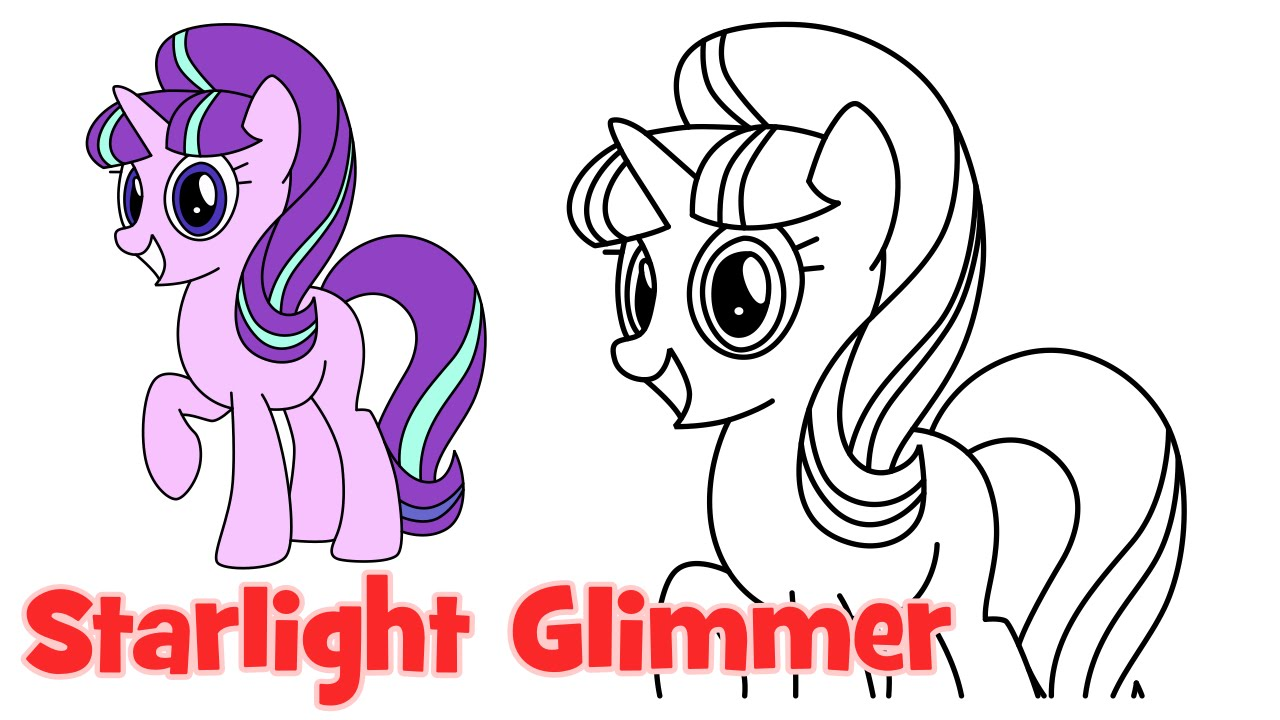 1280x720 How To Draw Starlight Glimmer My Little Pony Step By Step Easy