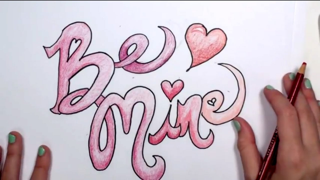 1280x720 How To Draw A Valentine's Design
