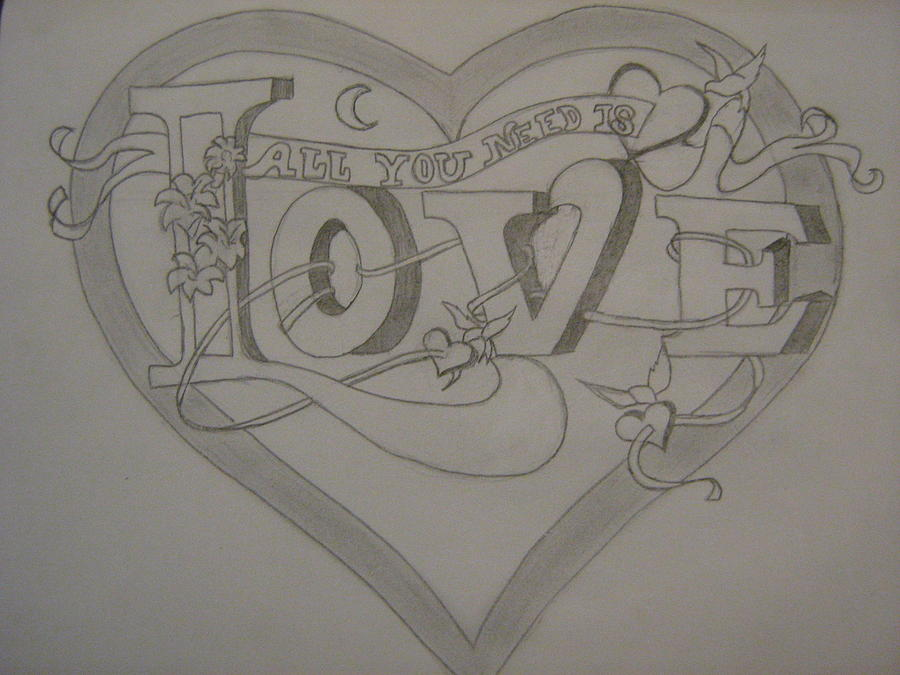 900x675 Love Drawing By Emily Scott