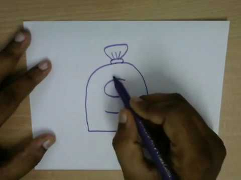 480x360 How To Draw A Money Bag Easy Step By Step Drawing For Kids