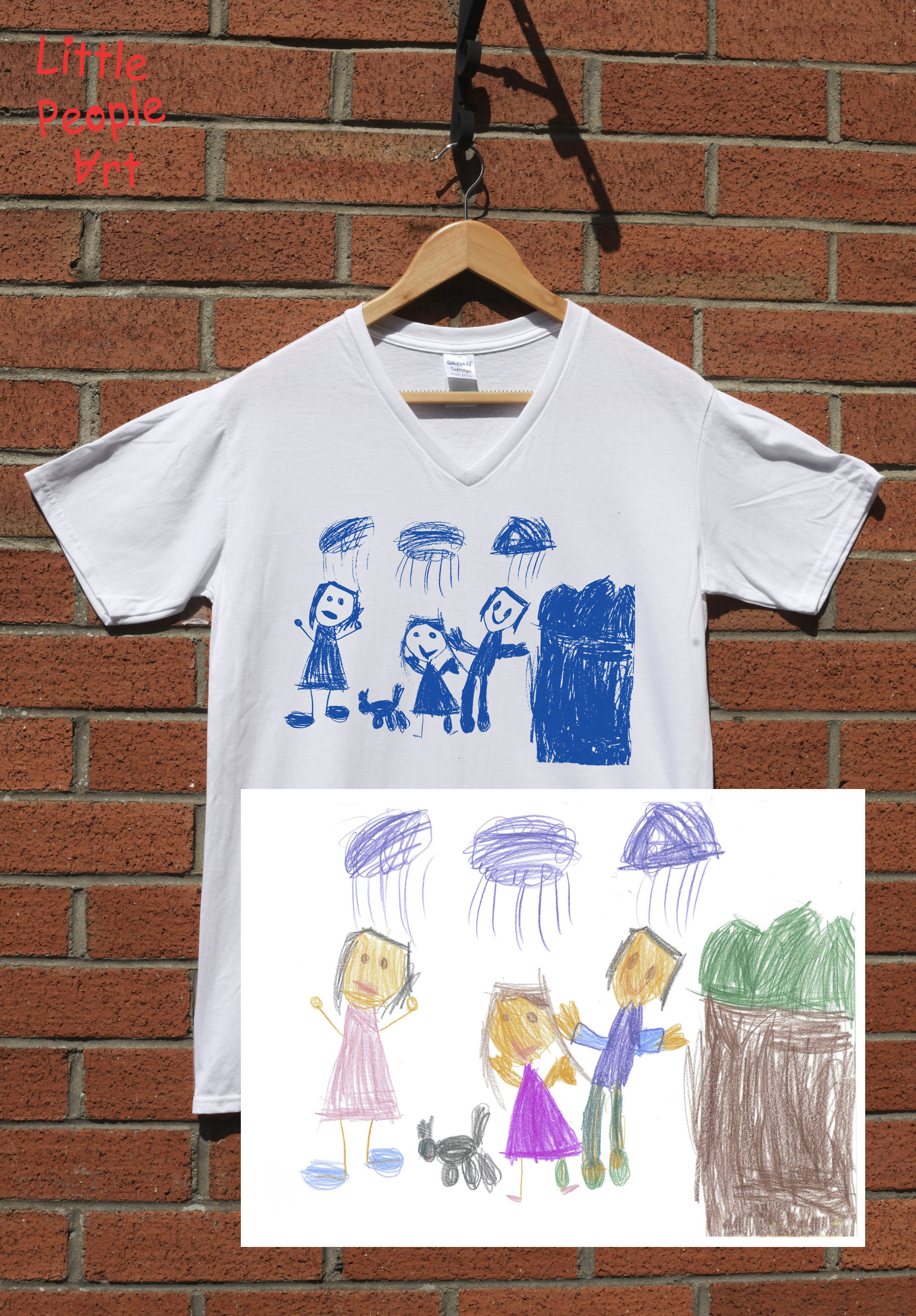 1803x2592 Put A Little Bit Of Your Child Into This Personalized Cotton T