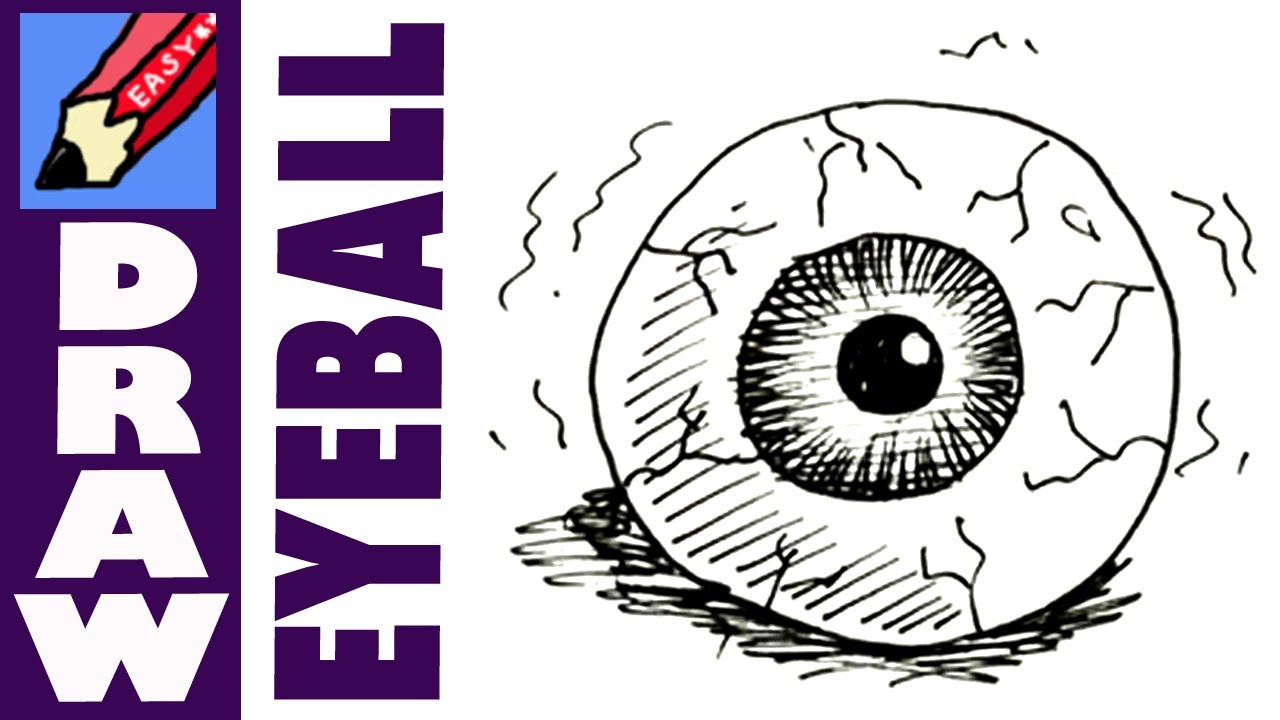 1280x720 How To Draw An Eyeball Drawing Scary