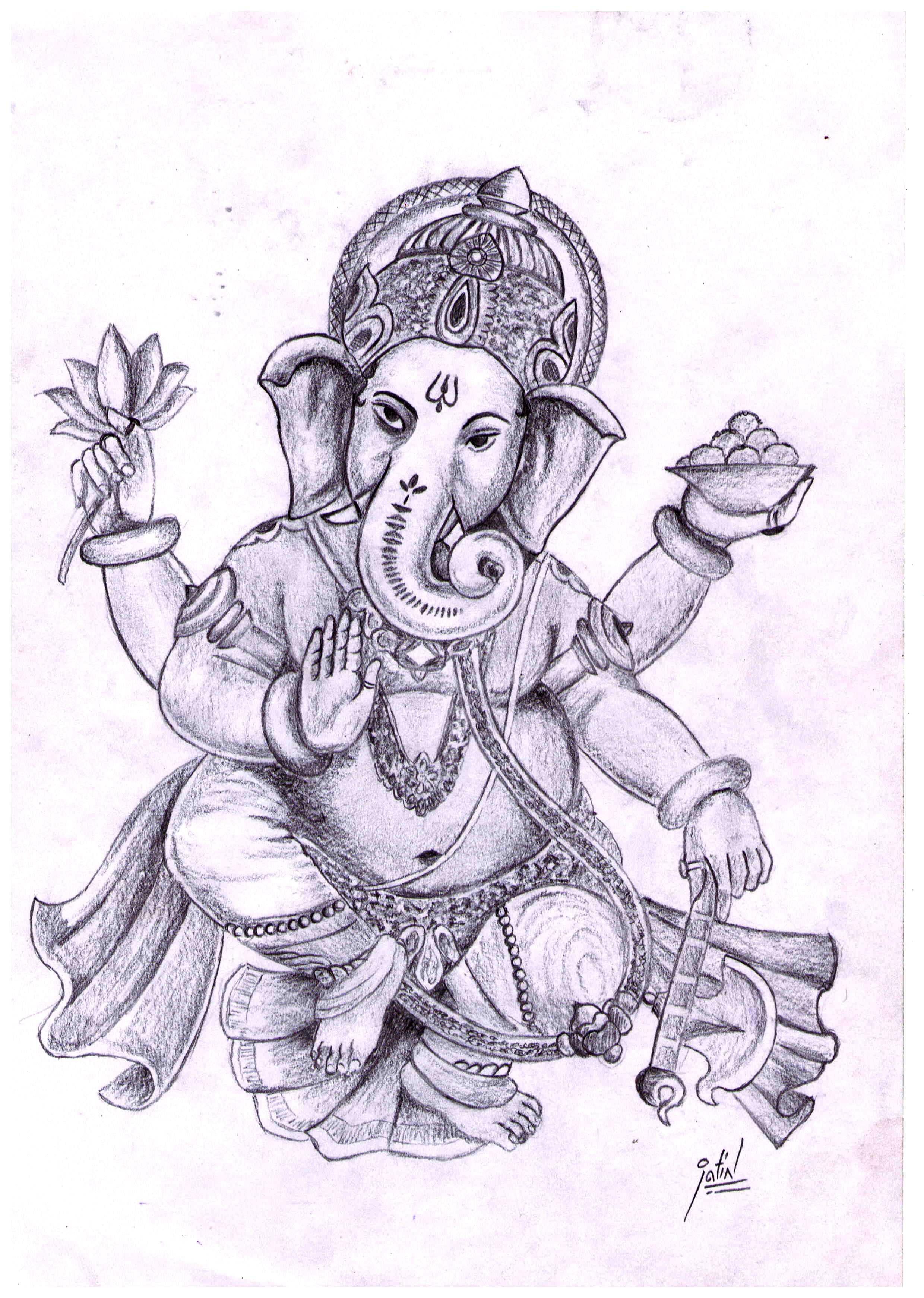 2480x3482 Drawing Of Lord Ganesha God Ganesh Drawings Free Download Clip