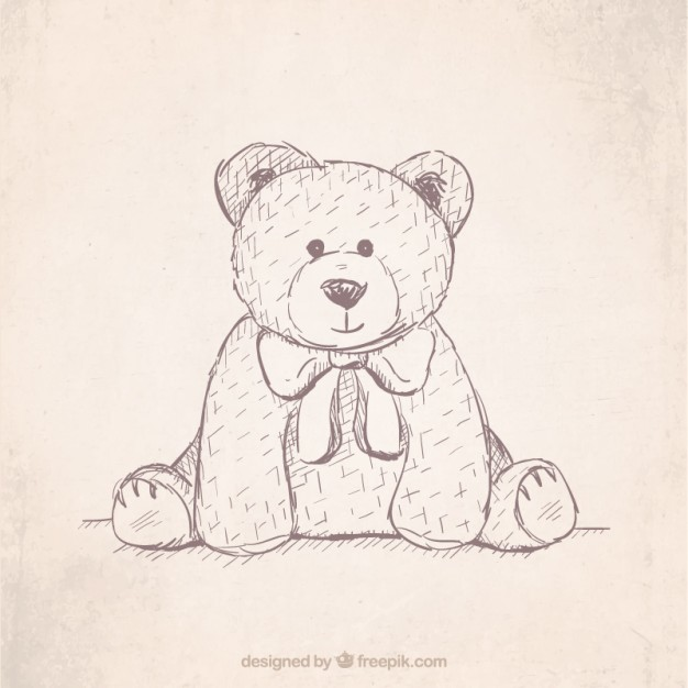 626x626 Hand Drawn Teddy Bear Vector Free Download