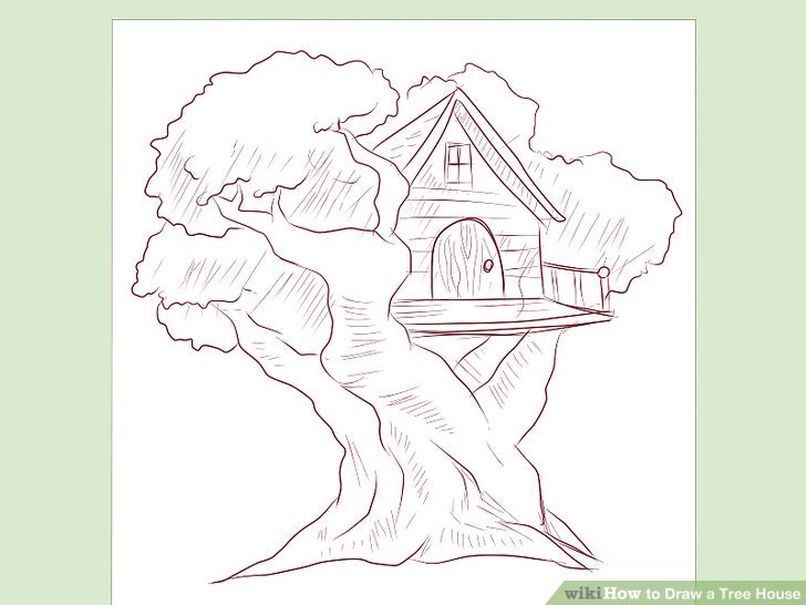 728x546 How To Draw A Tree House 5 Steps (With Pictures)