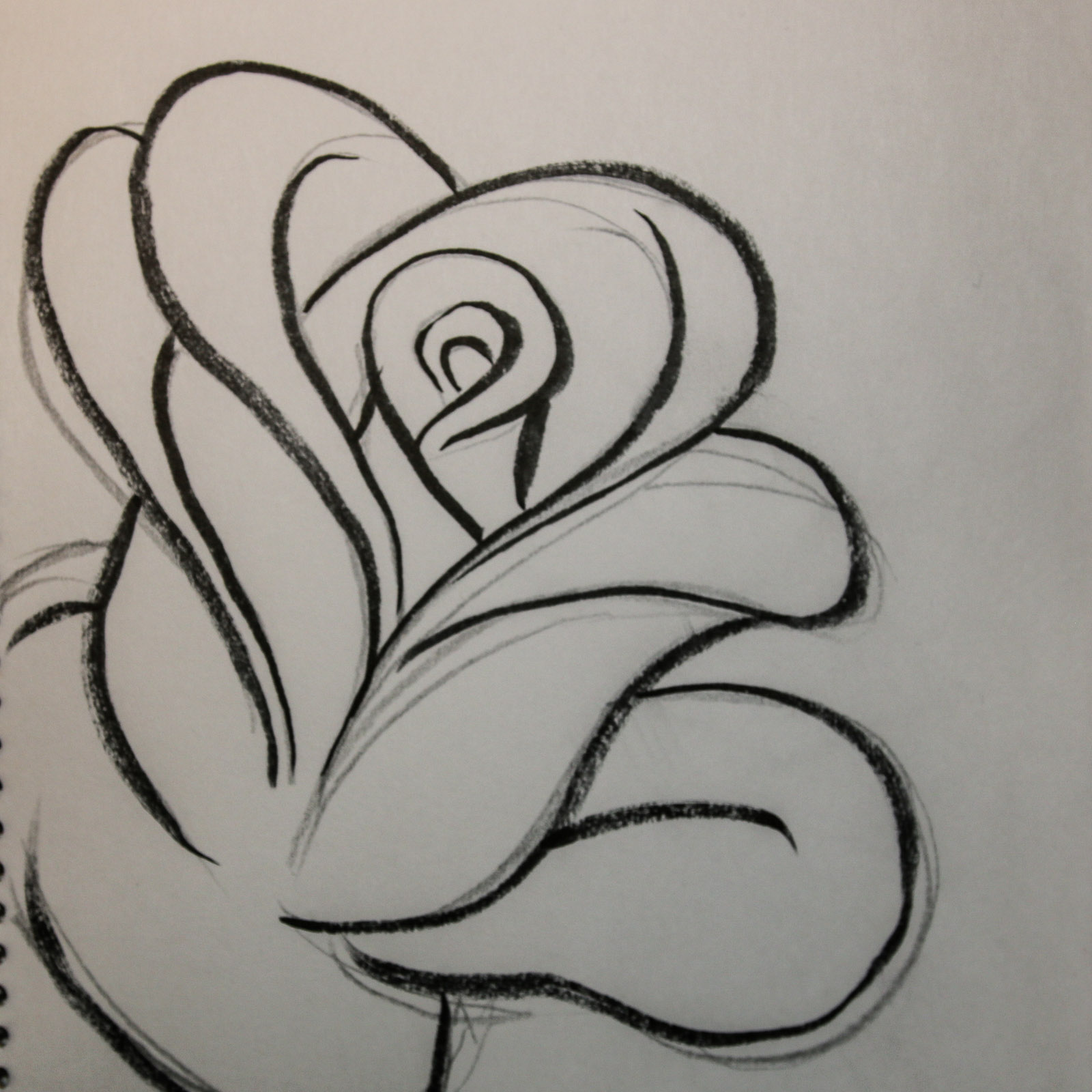 1600x1600 How To Draw A Rose (3 Simple Methods) Laura Kranz