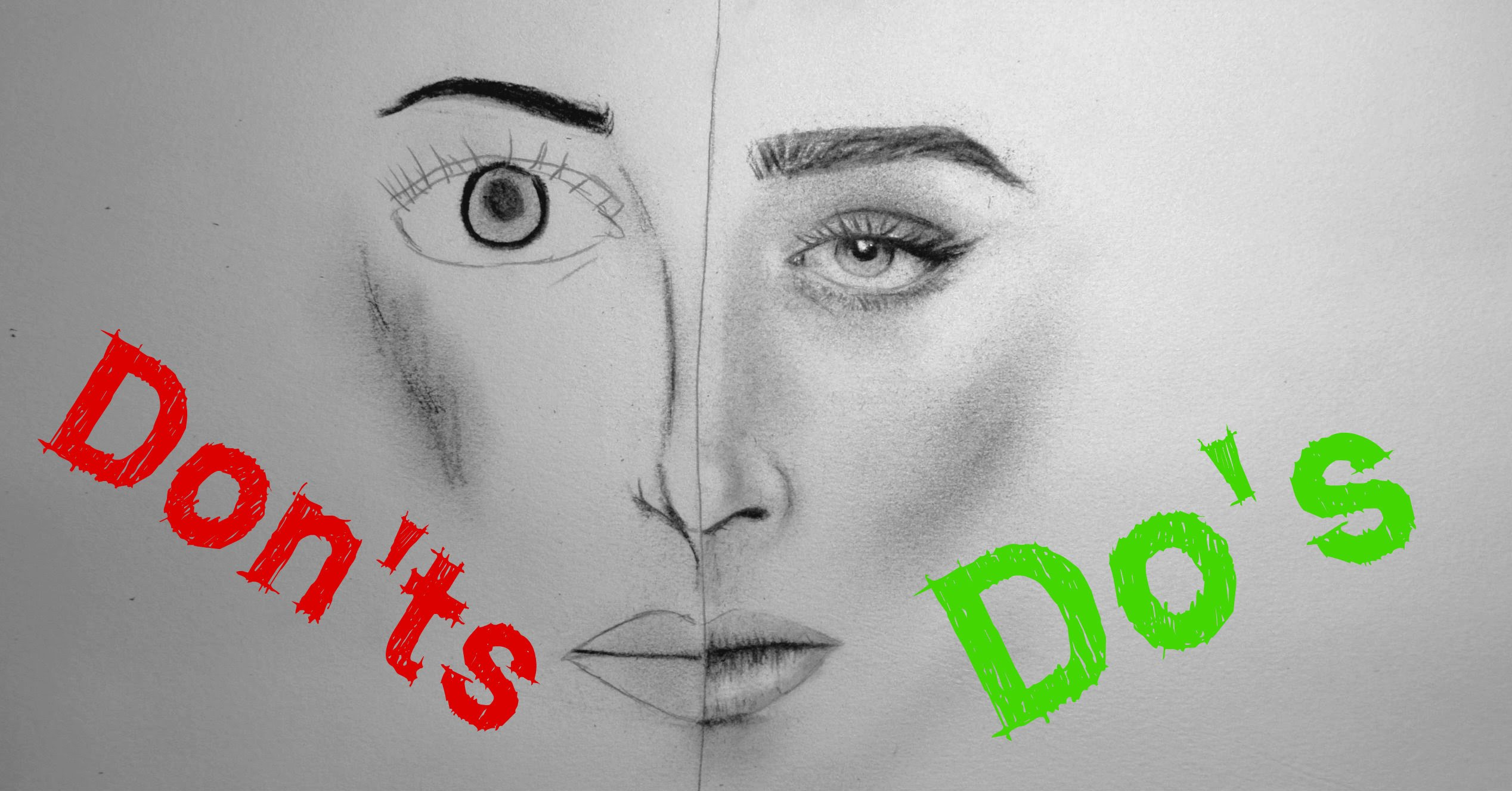2536x1327 Realistic Portrait Drawing Do's Amp Don'Ts