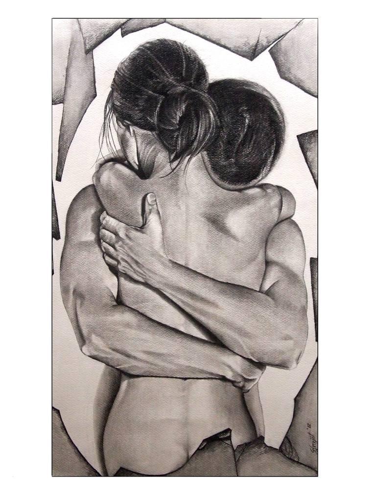 770x1000 Saatchi Art Love Drawing By Surajit Chatterjee