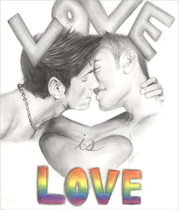 585x685 Love Drawings Templates