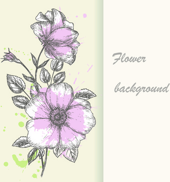 344x368 Hand Drawing Flowers Free Vector Download (100,501 Free Vector