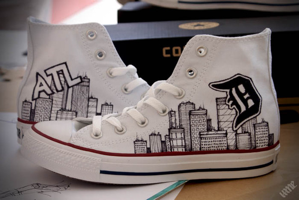 600x402 Free Hand Drawing On Converse! It'Sns Of Fun! Thing I Want