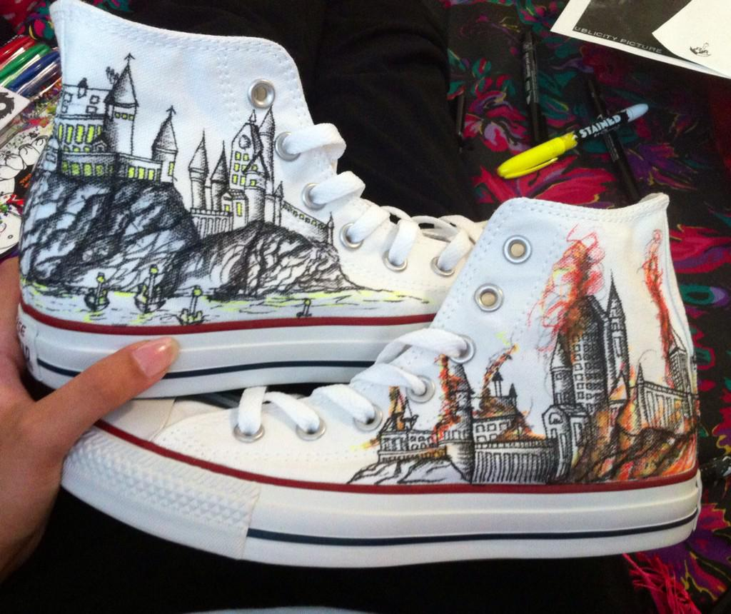 1024x860 Drawing On Converse