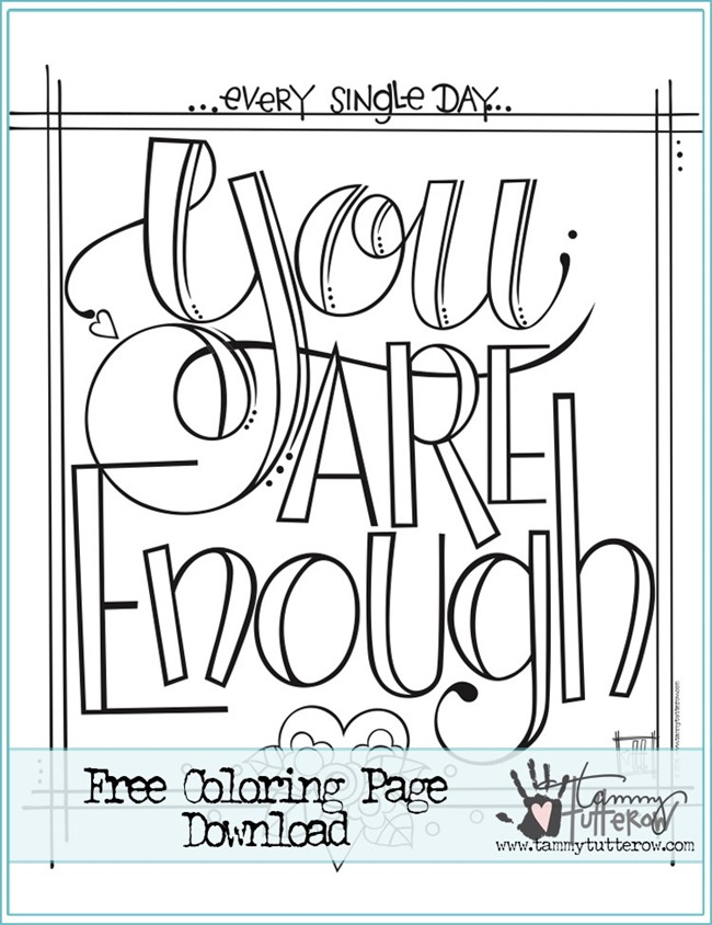 650x844 Free Printable Coloring Pages With Quotes Teens