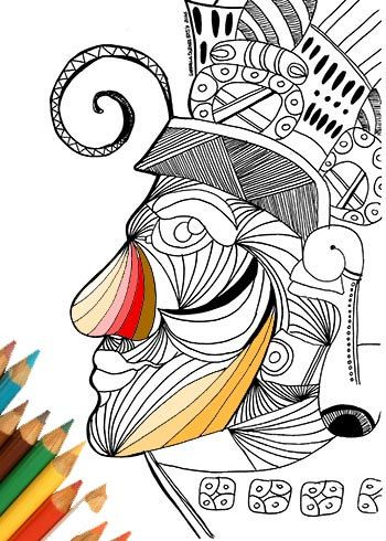 350x490 Art Amp Collectibles Drawing Illustration Digital Coloring Pages