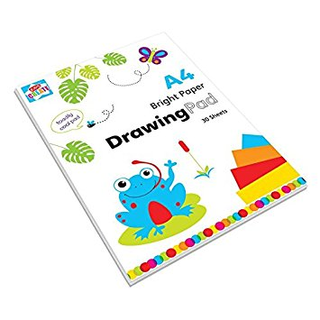 355x355 Kids Create A4 Drawing Bright Assorted Colours Paper Pad 30