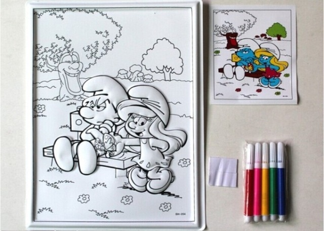 640x455 Big Size Coloring Murals Children Relief Painting Drawing Paper