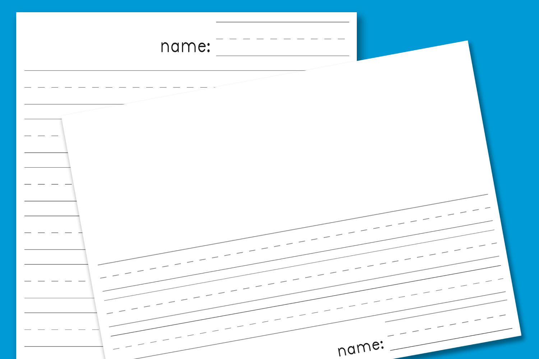 1500x1000 Kindergarten Blank Lined Paper