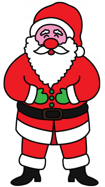 215x382 How To Draw Santa Clasu With Presents, Easy Step By Step Drawing